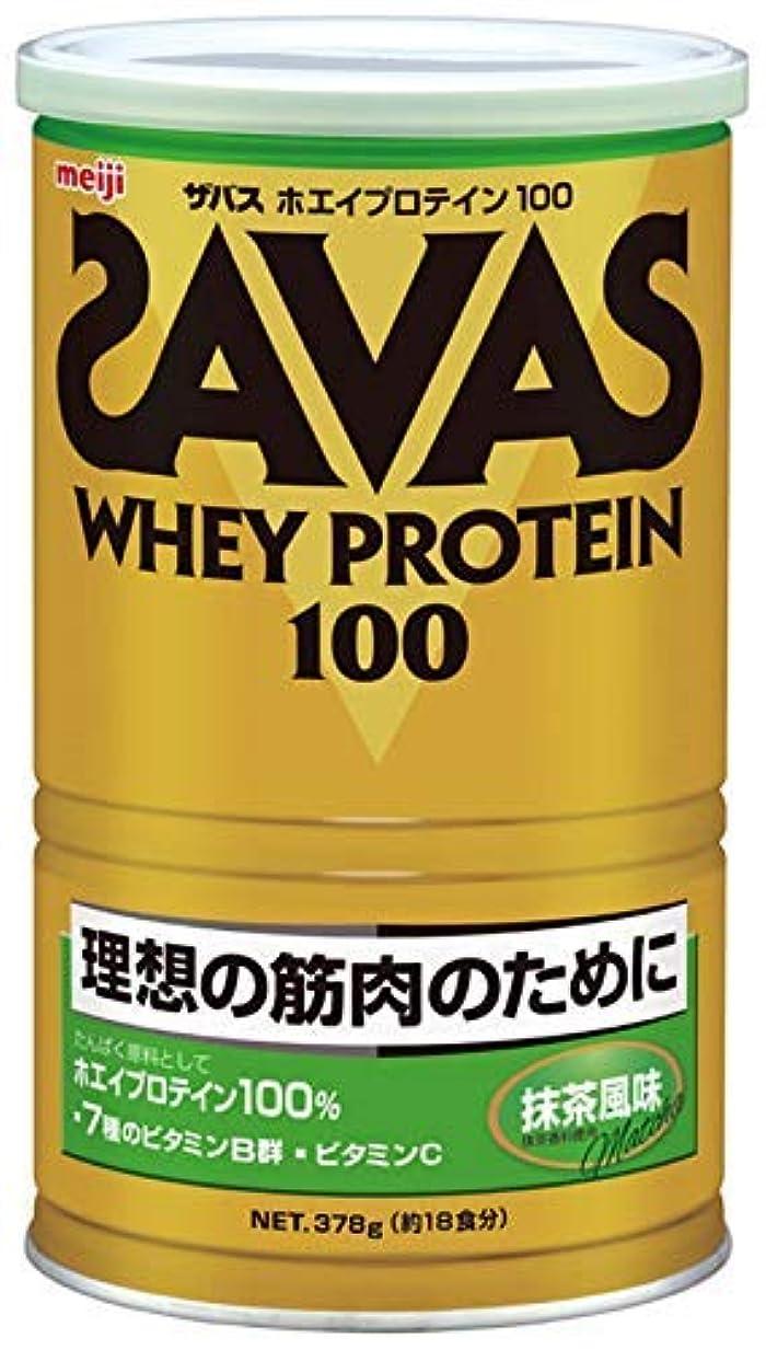 アシスタント第二にボス明治 ザバス ホエイプロテイン100 抹茶風味 378g 約18食分 × 10個セット