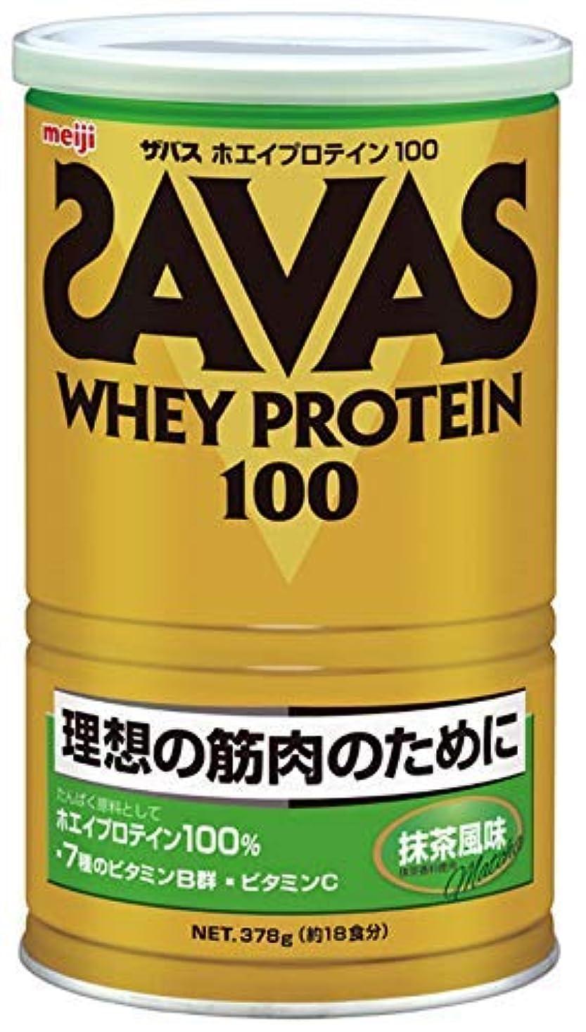 トラップホイールリズミカルな明治 ザバス ホエイプロテイン100 抹茶風味 378g 約18食分 × 10個セット