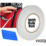 "VViViD Clear Car Door Edge Sealing Paint Finish Protector Strip .38"" Roll (.5"" x 160ft Roll w/Squeegee)"