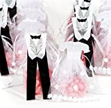 Pardao新郎新婦ウェディングギフトバッグ-感謝のギフト24ピース(ホワイト、シルバー、ブラック) (White/Silver/Black)