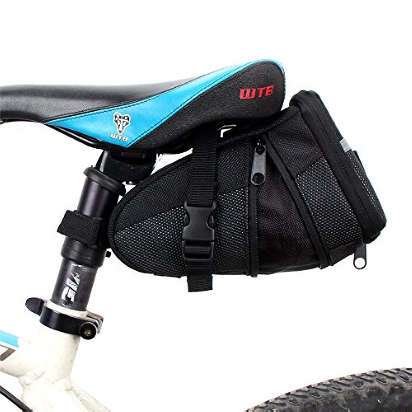 市長ビジョン未知の自転車シートパックバッグ 屋外の自転車の座席サドルバッグの椅子袋、乗馬のくさびの自転車の革紐の自転車のサドル袋の座席袋の自転車袋 自転車サドルバッグ