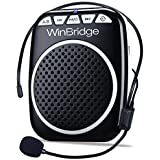 WinBridge WB001 Portable Voice Amplifier with Headset Microphone Personal Speaker Mic Rechargeable Ultralight for Teachers, E