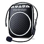 WinBridge WB001 Rechargeable Ultralight Portable Voice Amplifier Waist Support MP3 Format Audio for Tour Guides, Teachers...