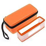 【Xberstar】Bose SoundLink Mini /Mini II 専用ケース 保護カバー ボックス ポーチ 小物入れ カラフル カラビナ付き お得セット (2 X オレンジ)