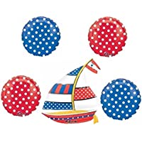 Nautical Polka Dot Balloon Bouquet by Anagram