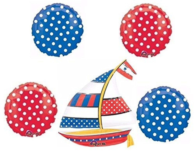 Nautical Polka Dot Balloon Bouquet by Anagram