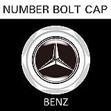 【BENZ】【ナンバープレート用】ベンツ ナンバーボルトキャップ NUMBER BOLT CAP 3個入りセット タイプ1 ブラガ