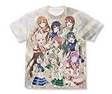 ラブライブ!虹ヶ咲学園スクールアイドル同好会 フルグラフィックTシャツ ホワイト XLサイズ