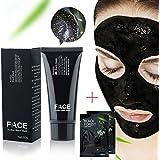 FaceApeelブラックヘッドリムーバーマスクチューブ60g(2.11オンス)+ 2ブラックフォレストスパイプストリップ6g(0.2オンス) - プレミアムマッドフェイシャルマスク