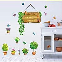 Onlymygodウォールステッカーウォールステッカー鉢植え寝室PVCウォールステッカー47x55cm