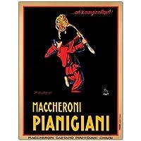 Maccheroni Pianigian by Achille Mauzan, 24x32-Inch Canvas Wall Art [並行輸入品]