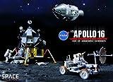 1/72 NASA アポロ16号 CMS(司令船/機械船)+月着陸船+月面探査車 デカルト高地の探査