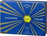 Callaway(キャロウェイ) CHROME TOUR ゴルフボール(1ダース12個入り) 2016年モデル ボールカラーイエロー  64233531200117 イエロー