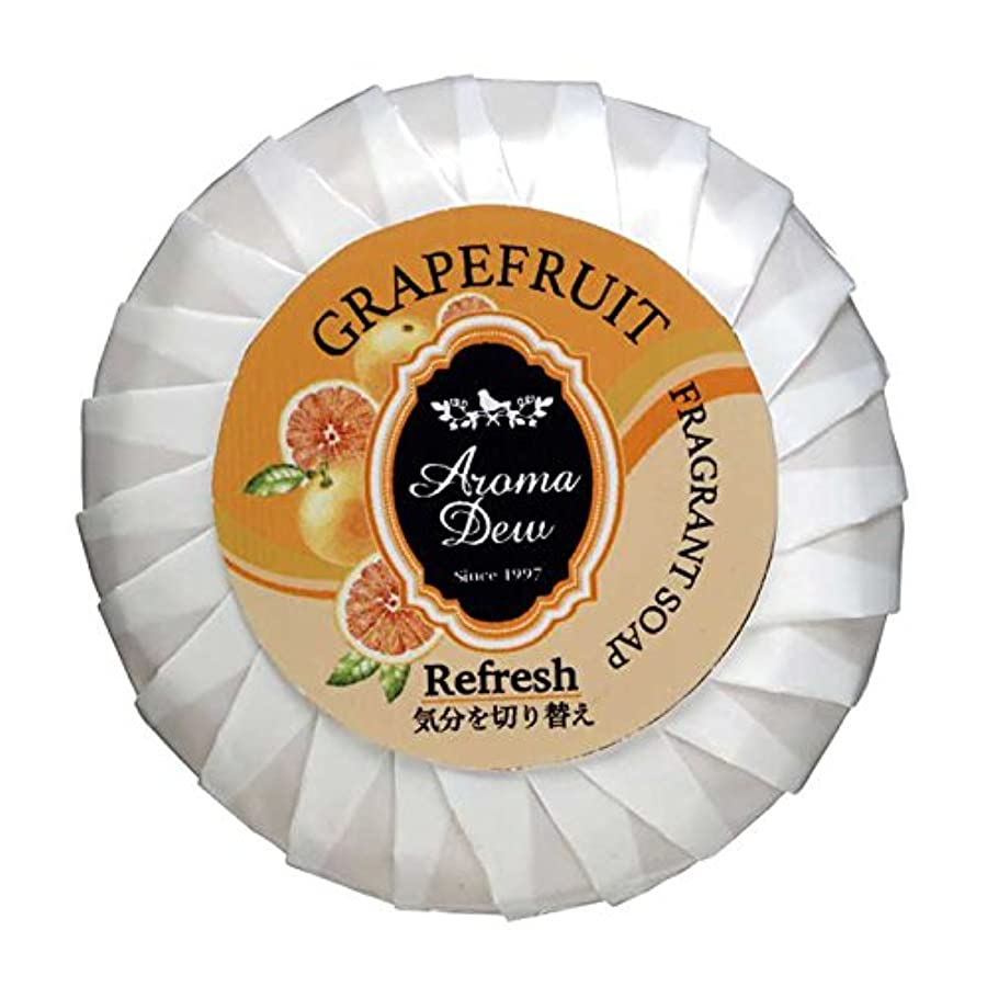 眉をひそめる飛躍くるくるアロマデュウ フレグラントソープ グレープフルーツの香り 100g