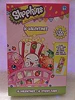 Shopkinsバレンタインカード(16Cards & 16Stickyタブ)