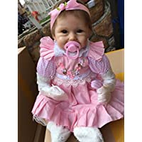 22 Inch 55cm Simulation Soft Silicone Vinyl Lifelike Reborn Baby Girl Doll Realistic Looking Newborn Dolls Toddler