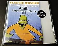 500 アウタースリーブ 45rpm 7インチ ビニールレコード用 ~ ミッドフィット 4ミル ポリエチレン プラスチック 4ミル 45s用ポリ袋カバー(+無料のDJマグネット付き)