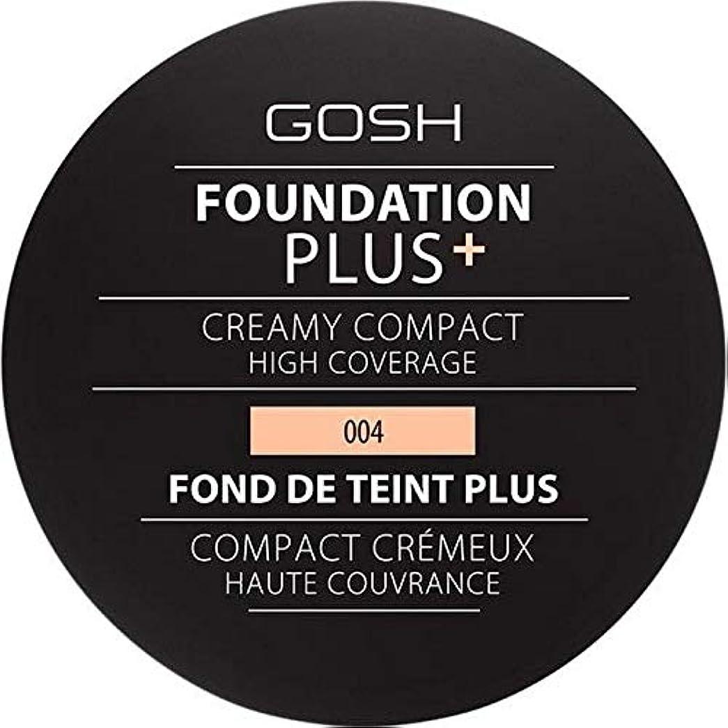 ハッピー明らかにする労苦[GOSH ] 基礎プラス+クリーミーコンパクトな自然004 - Foundation Plus+ Creamy Compact Natural 004 [並行輸入品]