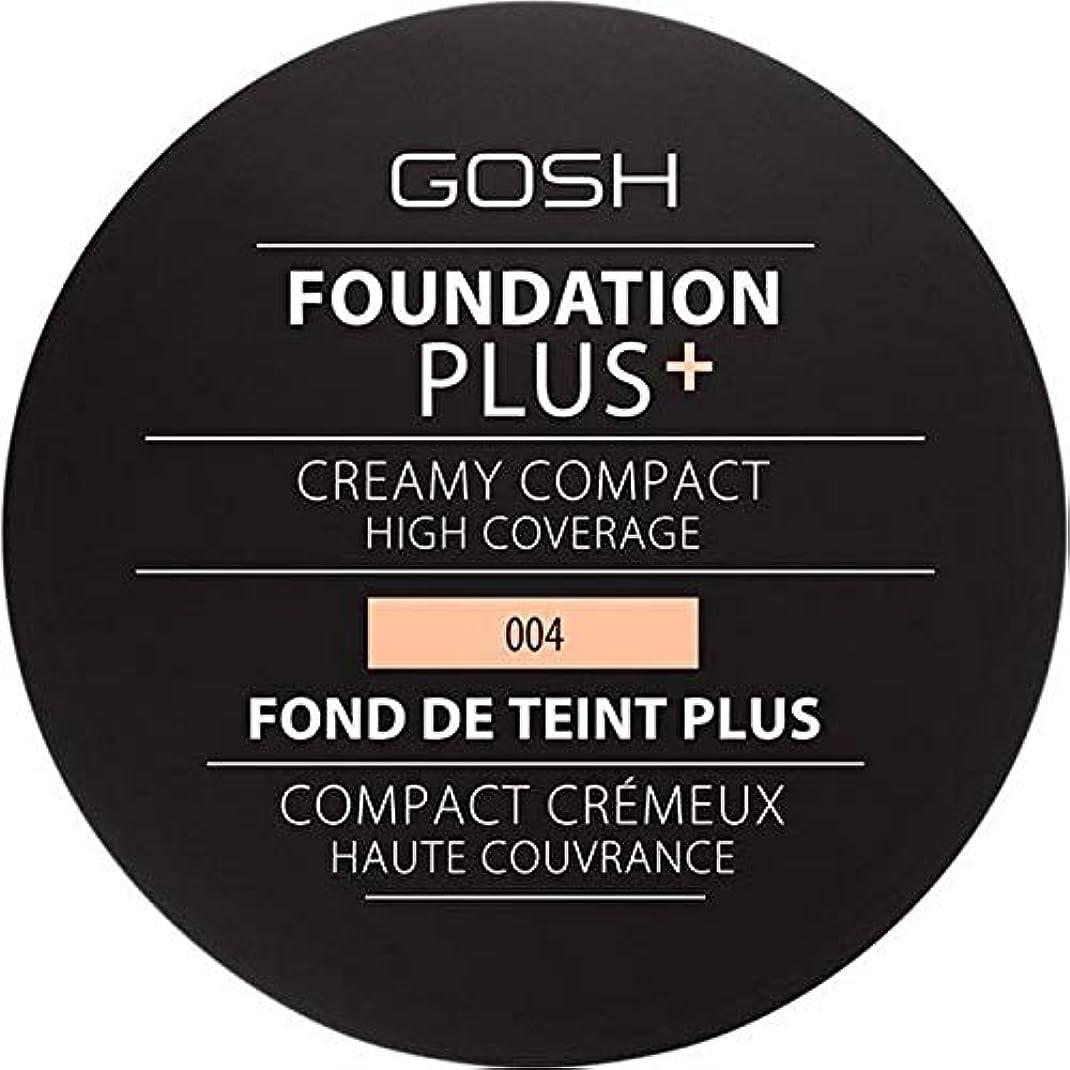 上陸モジュール観察する[GOSH ] 基礎プラス+クリーミーコンパクトな自然004 - Foundation Plus+ Creamy Compact Natural 004 [並行輸入品]