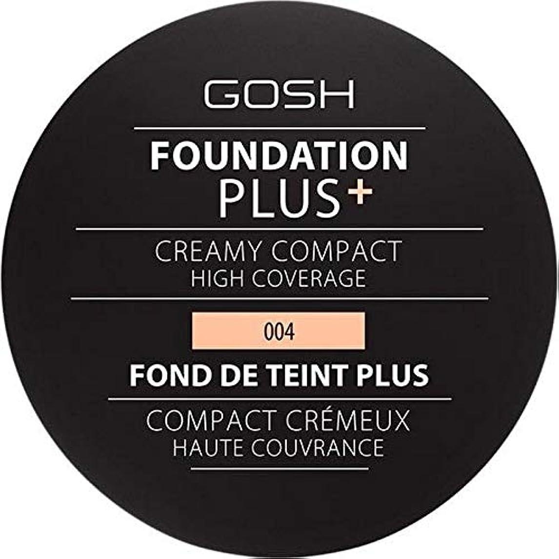 農民読書をするに賛成[GOSH ] 基礎プラス+クリーミーコンパクトな自然004 - Foundation Plus+ Creamy Compact Natural 004 [並行輸入品]