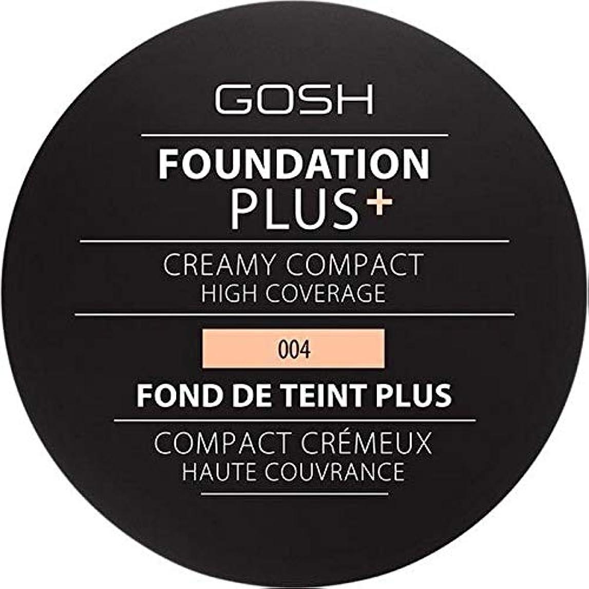 日付説教不従順[GOSH ] 基礎プラス+クリーミーコンパクトな自然004 - Foundation Plus+ Creamy Compact Natural 004 [並行輸入品]
