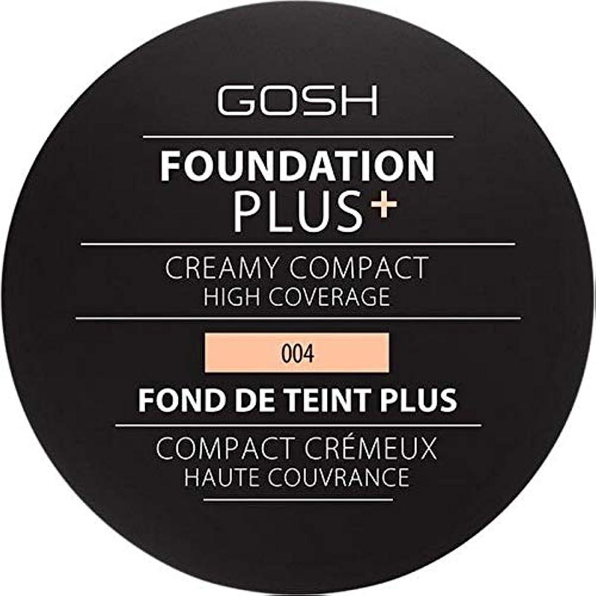 シガレットベアリング火傷[GOSH ] 基礎プラス+クリーミーコンパクトな自然004 - Foundation Plus+ Creamy Compact Natural 004 [並行輸入品]