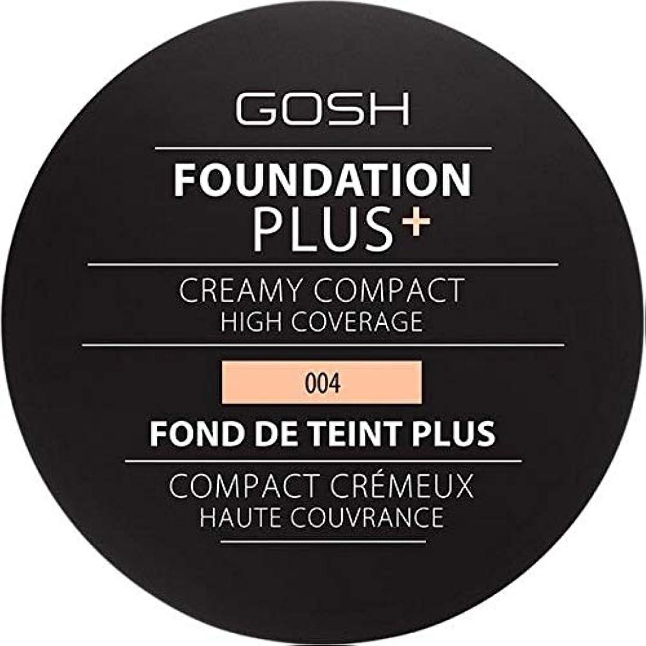 アドバンテージ時代遅れ冷淡な[GOSH ] 基礎プラス+クリーミーコンパクトな自然004 - Foundation Plus+ Creamy Compact Natural 004 [並行輸入品]