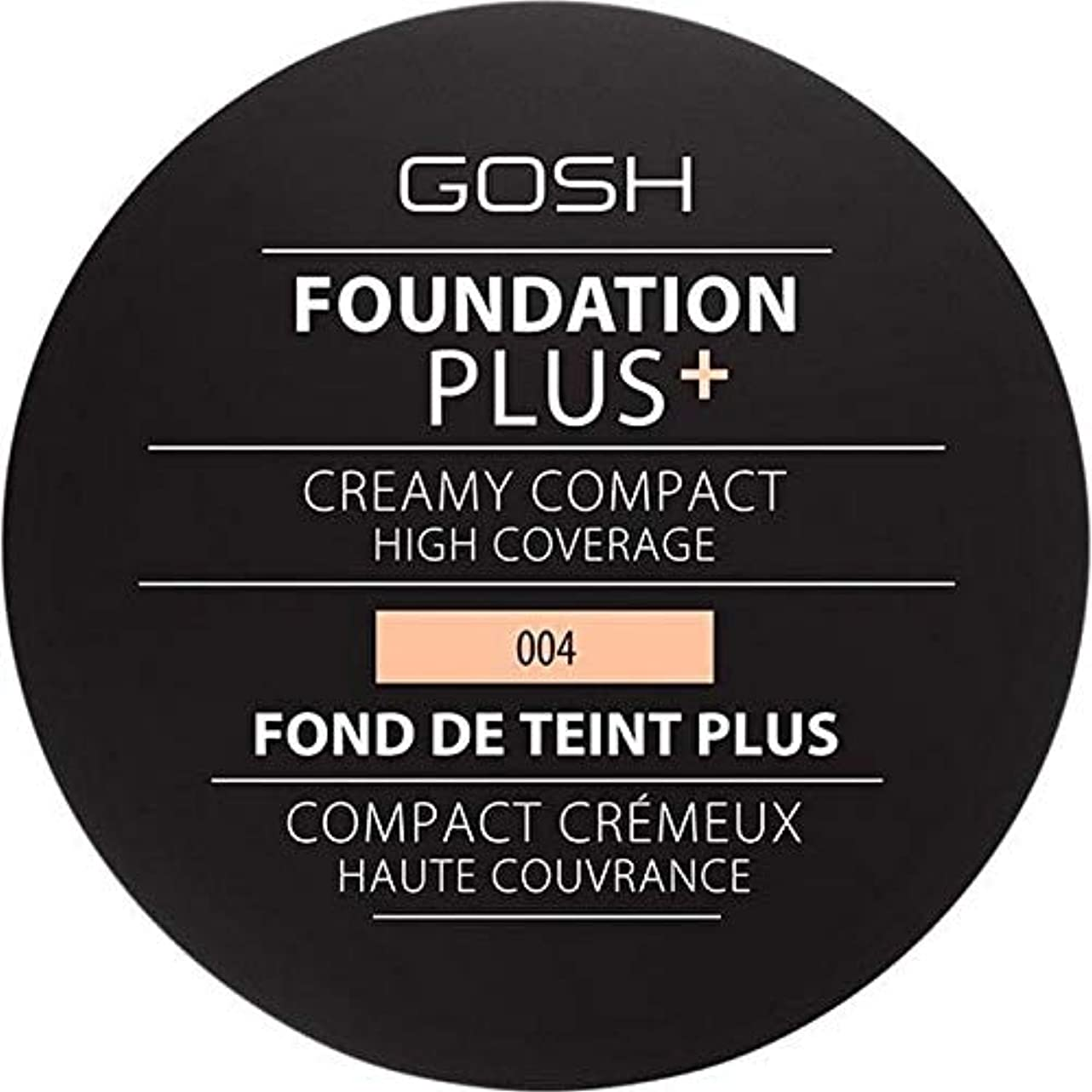 クライアント組み立てるブレーキ[GOSH ] 基礎プラス+クリーミーコンパクトな自然004 - Foundation Plus+ Creamy Compact Natural 004 [並行輸入品]