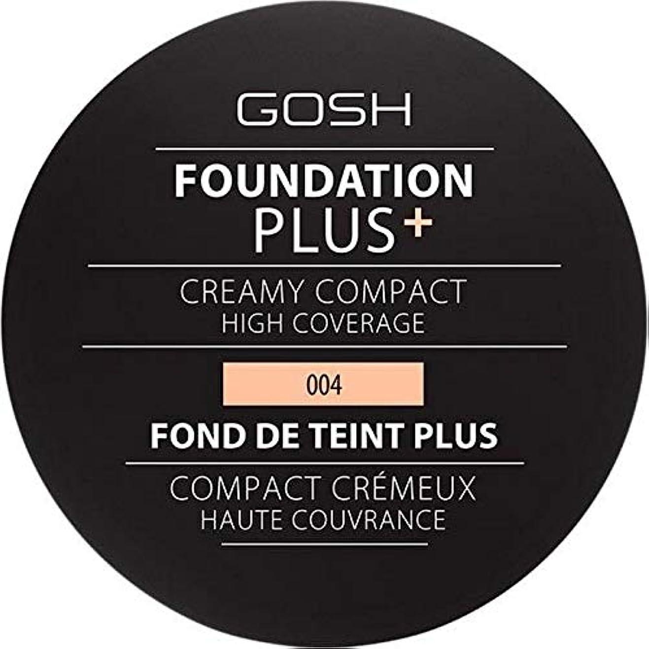 猫背雄弁幾何学[GOSH ] 基礎プラス+クリーミーコンパクトな自然004 - Foundation Plus+ Creamy Compact Natural 004 [並行輸入品]