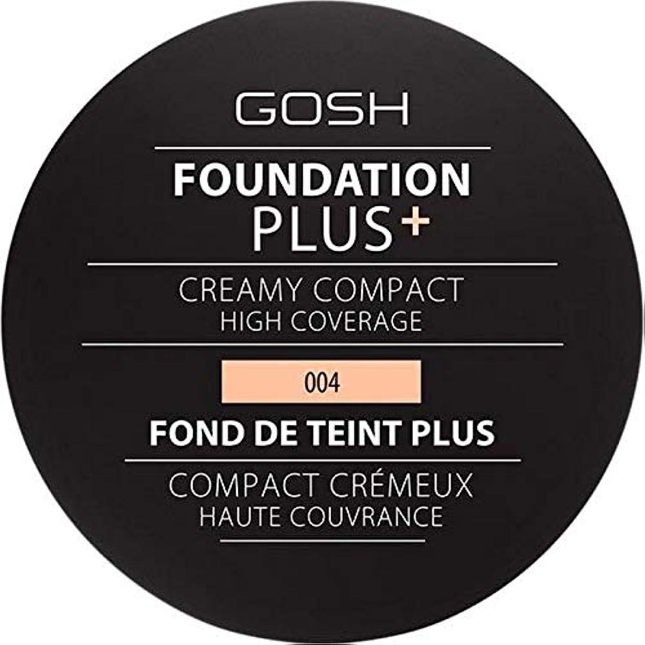 グループマーキングインチ[GOSH ] 基礎プラス+クリーミーコンパクトな自然004 - Foundation Plus+ Creamy Compact Natural 004 [並行輸入品]