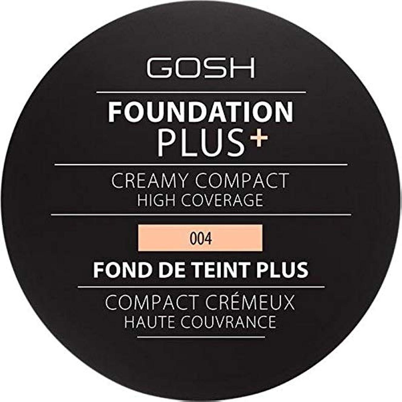 ぴかぴかトレイル宇宙船[GOSH ] 基礎プラス+クリーミーコンパクトな自然004 - Foundation Plus+ Creamy Compact Natural 004 [並行輸入品]
