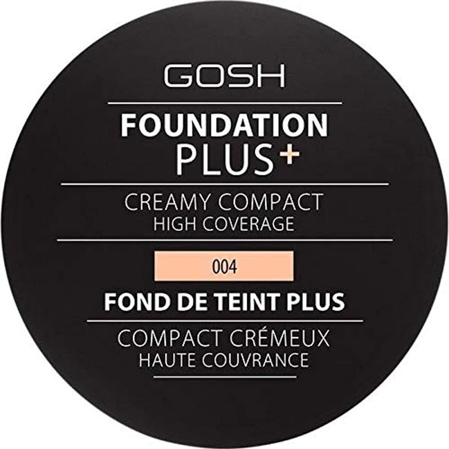 橋脚フライト静けさ[GOSH ] 基礎プラス+クリーミーコンパクトな自然004 - Foundation Plus+ Creamy Compact Natural 004 [並行輸入品]