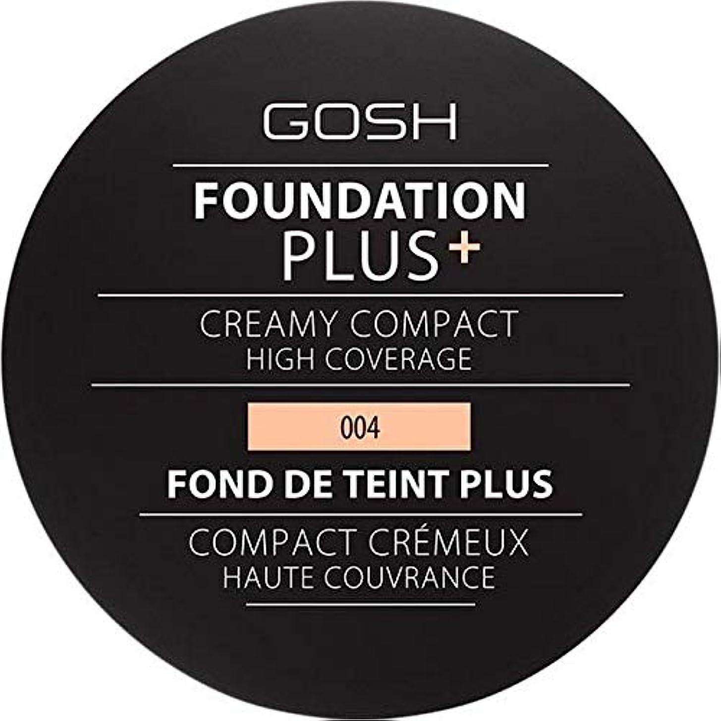 背骨土器イデオロギー[GOSH ] 基礎プラス+クリーミーコンパクトな自然004 - Foundation Plus+ Creamy Compact Natural 004 [並行輸入品]
