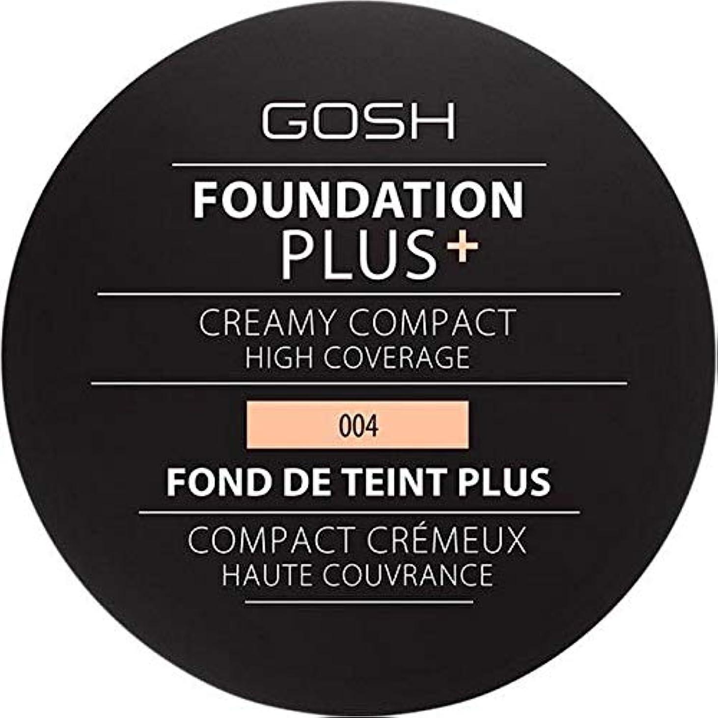 特殊コンパイルパイ[GOSH ] 基礎プラス+クリーミーコンパクトな自然004 - Foundation Plus+ Creamy Compact Natural 004 [並行輸入品]