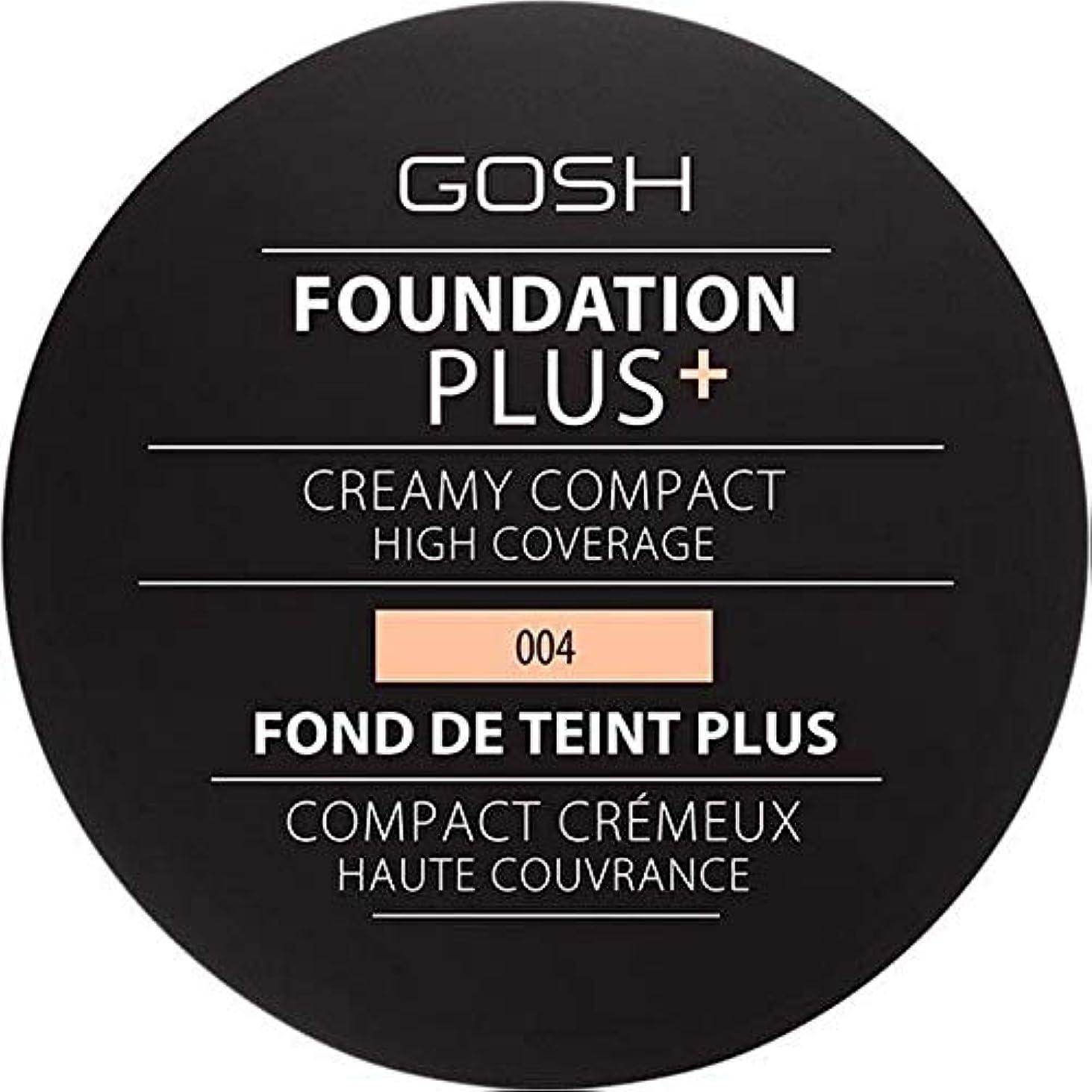 ハーブレインコート言い換えると[GOSH ] 基礎プラス+クリーミーコンパクトな自然004 - Foundation Plus+ Creamy Compact Natural 004 [並行輸入品]