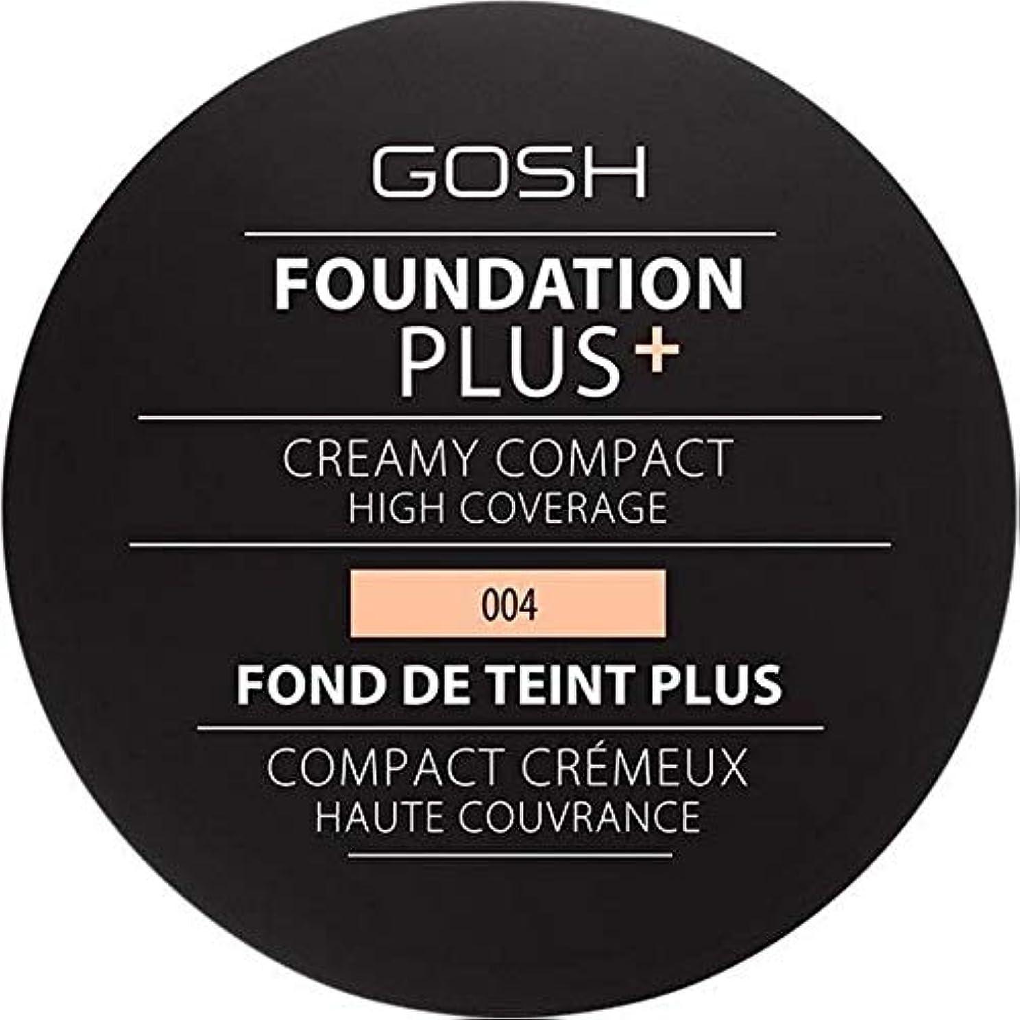 経歴ラダ誤って[GOSH ] 基礎プラス+クリーミーコンパクトな自然004 - Foundation Plus+ Creamy Compact Natural 004 [並行輸入品]