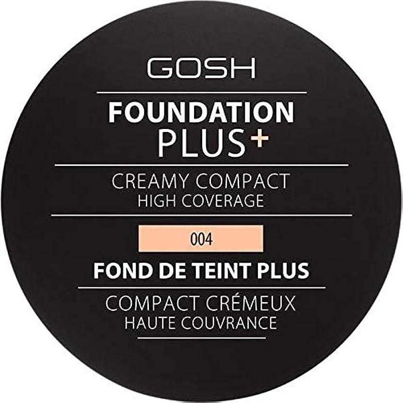 うめき死の顎コールド[GOSH ] 基礎プラス+クリーミーコンパクトな自然004 - Foundation Plus+ Creamy Compact Natural 004 [並行輸入品]