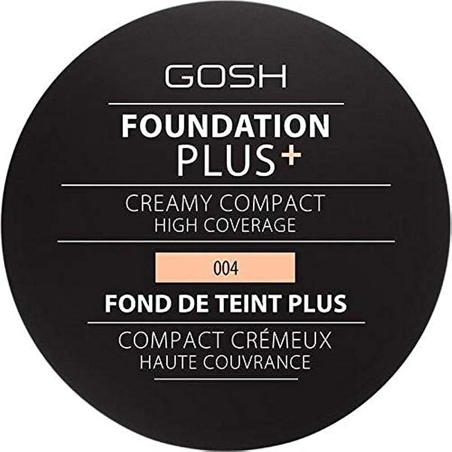 色小売絶滅させる[GOSH ] 基礎プラス+クリーミーコンパクトな自然004 - Foundation Plus+ Creamy Compact Natural 004 [並行輸入品]