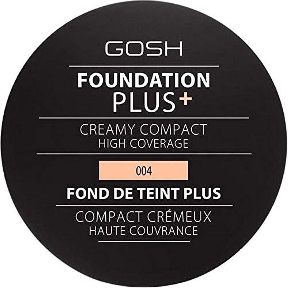 スリチンモイ若者時[GOSH ] 基礎プラス+クリーミーコンパクトな自然004 - Foundation Plus+ Creamy Compact Natural 004 [並行輸入品]