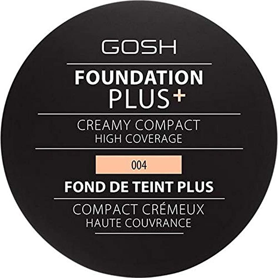 ガラス酔っ払い有彩色の[GOSH ] 基礎プラス+クリーミーコンパクトな自然004 - Foundation Plus+ Creamy Compact Natural 004 [並行輸入品]