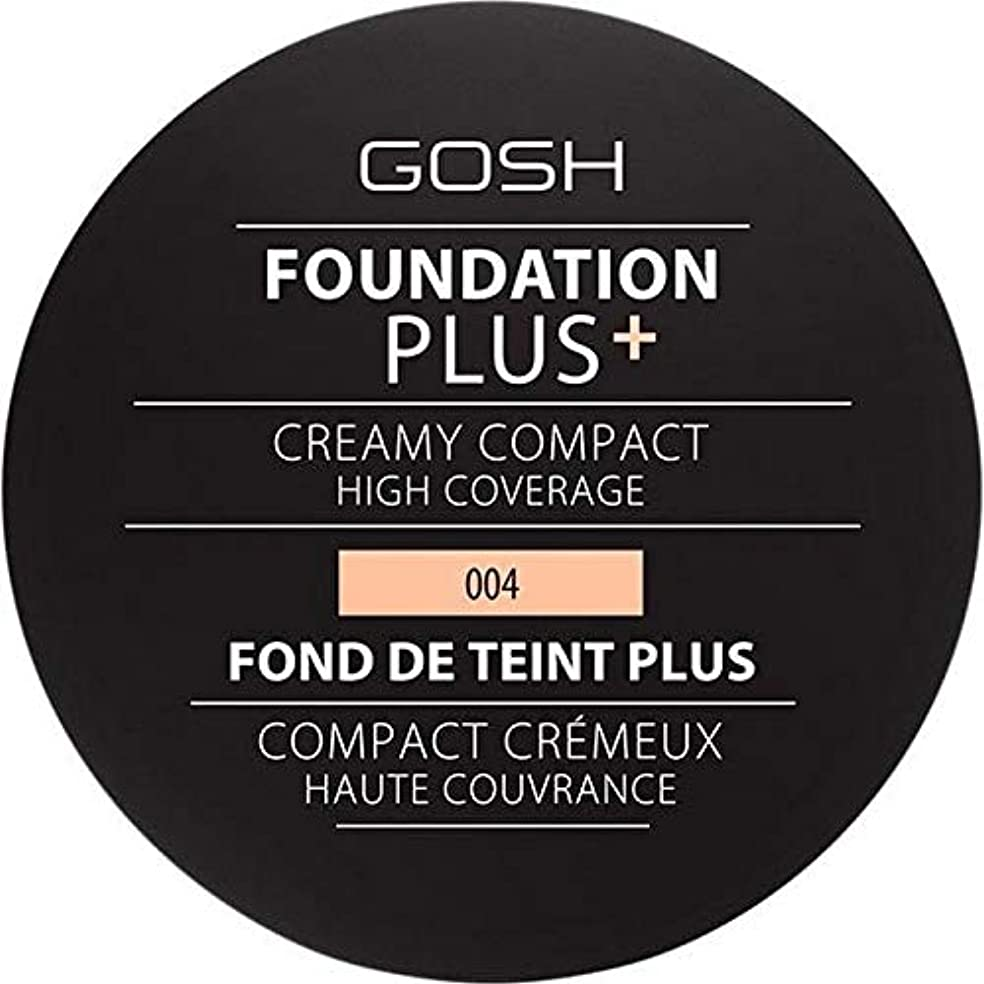 落ち着く根拠抹消[GOSH ] 基礎プラス+クリーミーコンパクトな自然004 - Foundation Plus+ Creamy Compact Natural 004 [並行輸入品]