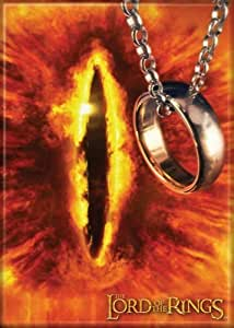 Lord of the Rings - Eye of Sauron and One Ring - Refrigerator Magnet by Ata-Boy [並行輸入品]
