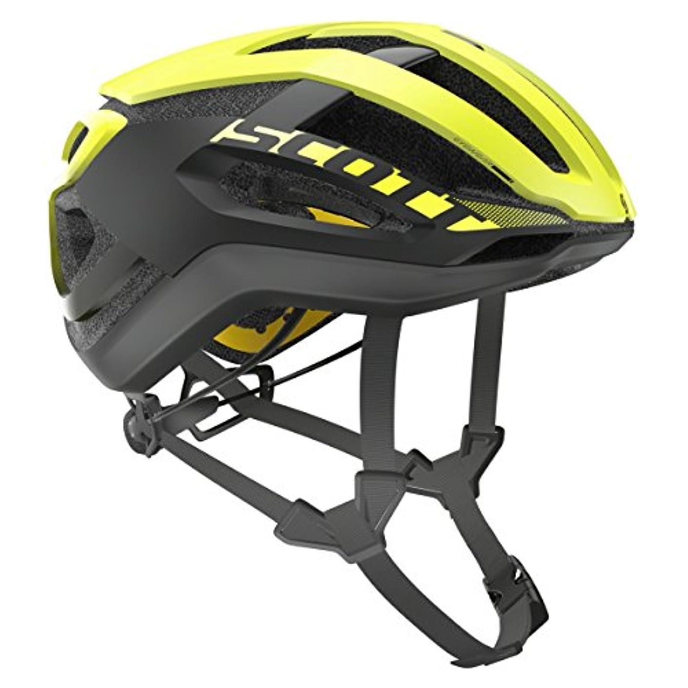 クリームめったにあまりにもSCOTT(スコット) ヘルメット Helmet Centric PLUS yellow RC L 2500235859008 イエローRC L