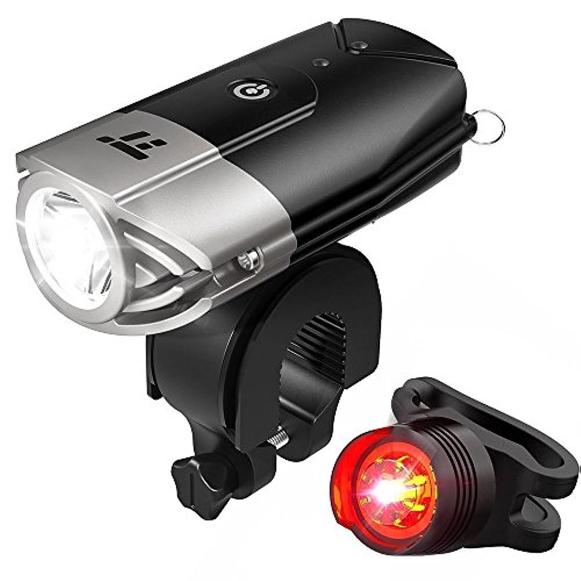 切断する答え規範自転車ライト テールライト付 TaoTronics USB充電式 ヘッドライト 700ルーメン LED IP65防水 TT-HP007