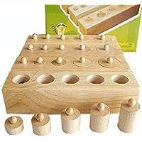 QXMEI おもちゃ 子供 木製 1-2-3歳 子供 組み合わせ おもちゃ ソケット シリンダー モンテッソーリ 早期教育 教育 赤ちゃん 知的力 おもちゃ