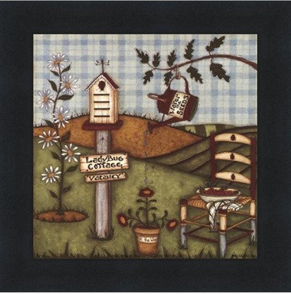 クールスクラップブック降伏てんとう虫Cottage by Robin Betterly – 5 x 5インチ – アートプリントポスター LE_416274-F101-5x5