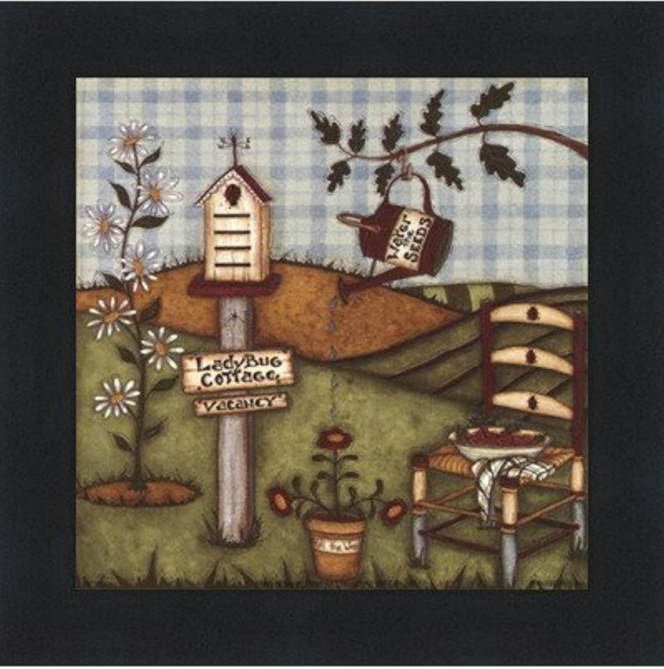 成り立つ集まるけん引てんとう虫Cottage by Robin Betterly – 5 x 5インチ – アートプリントポスター LE_416274-F101-5x5
