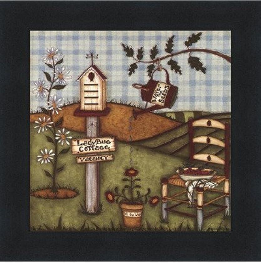 飛ぶ見える礼儀てんとう虫Cottage by Robin Betterly – 5 x 5インチ – アートプリントポスター LE_416274-F101-5x5