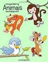 Livro para Colorir de Animais para Crianças 1 & 2
