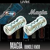 【LIVRE/リブレ】 Magia(マージア) チタニウムハンドルノブ 【シャンパン/チタン】 【2個入り】 (シマノ・ダイワ共通対応)